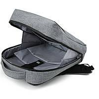 Рюкзак для ноутбука серый BAGSMART, фото 4