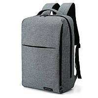 Рюкзак для ноутбука серый BAGSMART, фото 5