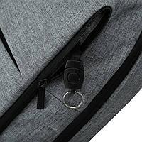 Рюкзак для ноутбука серый BAGSMART, фото 10