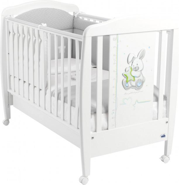 Детская кроватка CAM Coniglio с выдвижным ящиком Белая (G250)