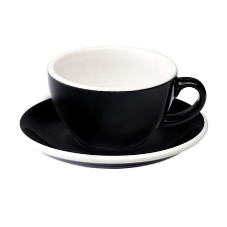 Чашка и блюдце для капучино Loveramics Egg Cappuccino Cup & Saucer Black (200 мл)