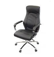 Кресло офисное на колесиках Фьюри CH ANF черного цвета из экокожи