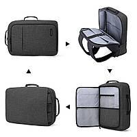 Рюкзак для ноутбука 15.6″ Pomona Bagsmart черный , фото 3