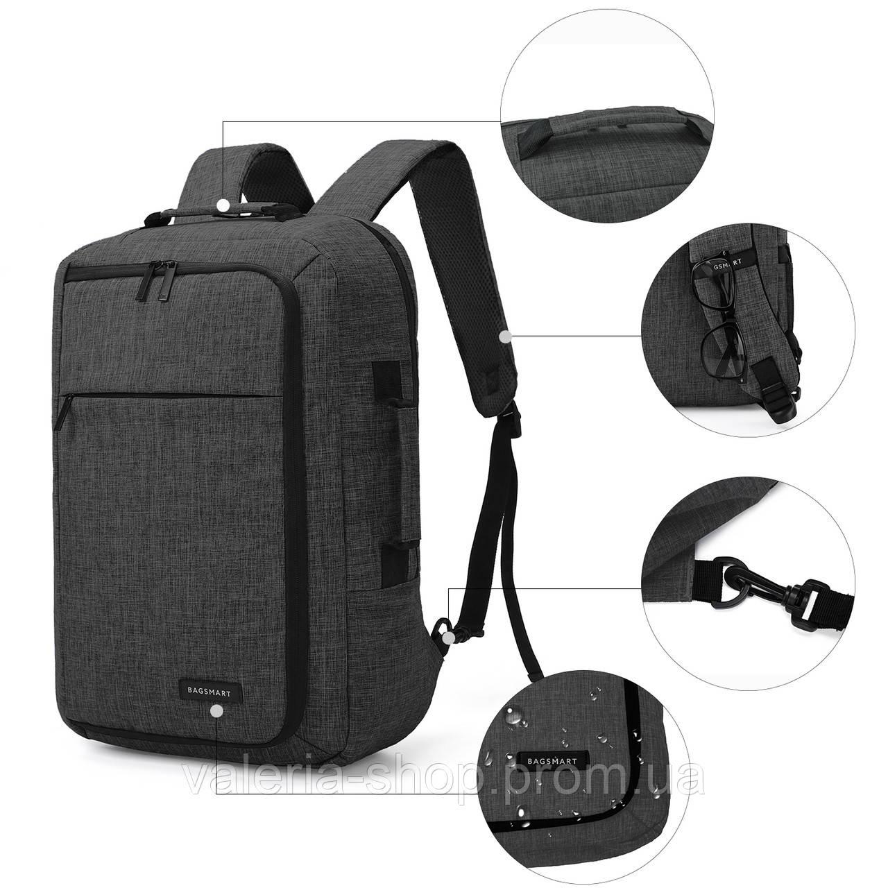 Рюкзак для ноутбука 15.6″ Pomona Bagsmart черный