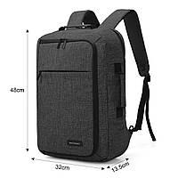Рюкзак для ноутбука 15.6″ Pomona Bagsmart черный , фото 4