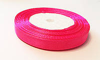Лента Атласная Розовая  ширина 1 см, длина 1 м / 100 м