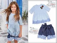 Летние  шорты для девочки ТМ МОНЕ р-р 98,104,110,128,152, фото 1
