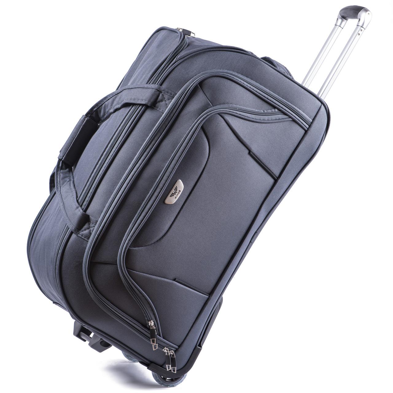 Малая сумка Wings C1055 на 2 колесах серый