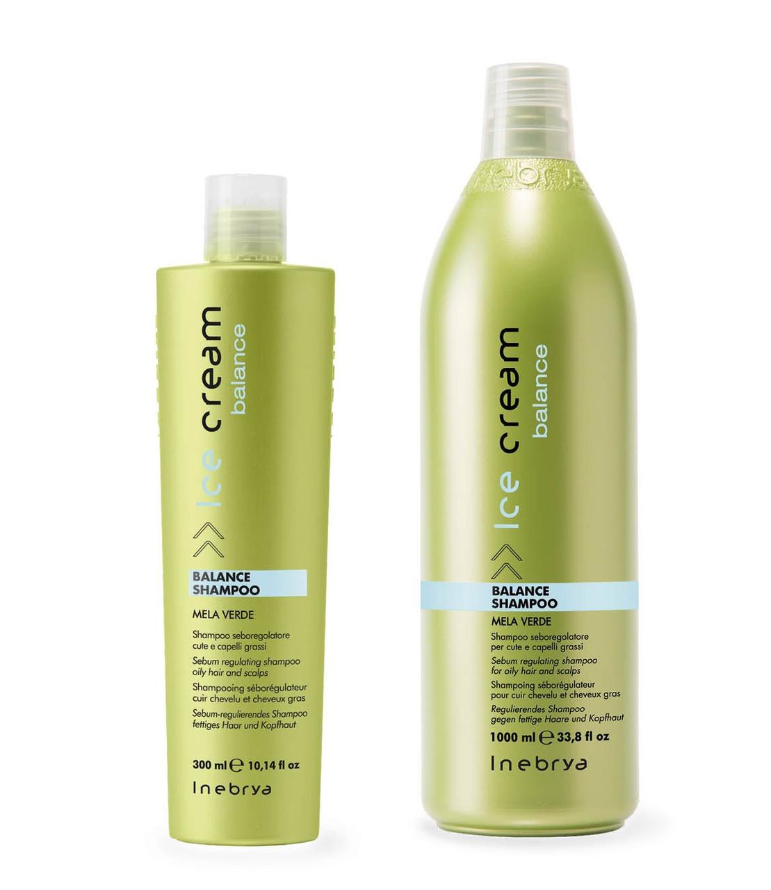 Шампунь для жирной кожи головы Inebrya Ice Cream Balance Shampoo, 300 мл