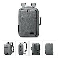 Рюкзак для ноутбука 15.6″ Pomona Bagsmart серый , фото 2