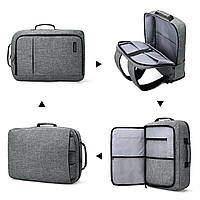 Рюкзак для ноутбука 15.6″ Pomona Bagsmart серый , фото 3