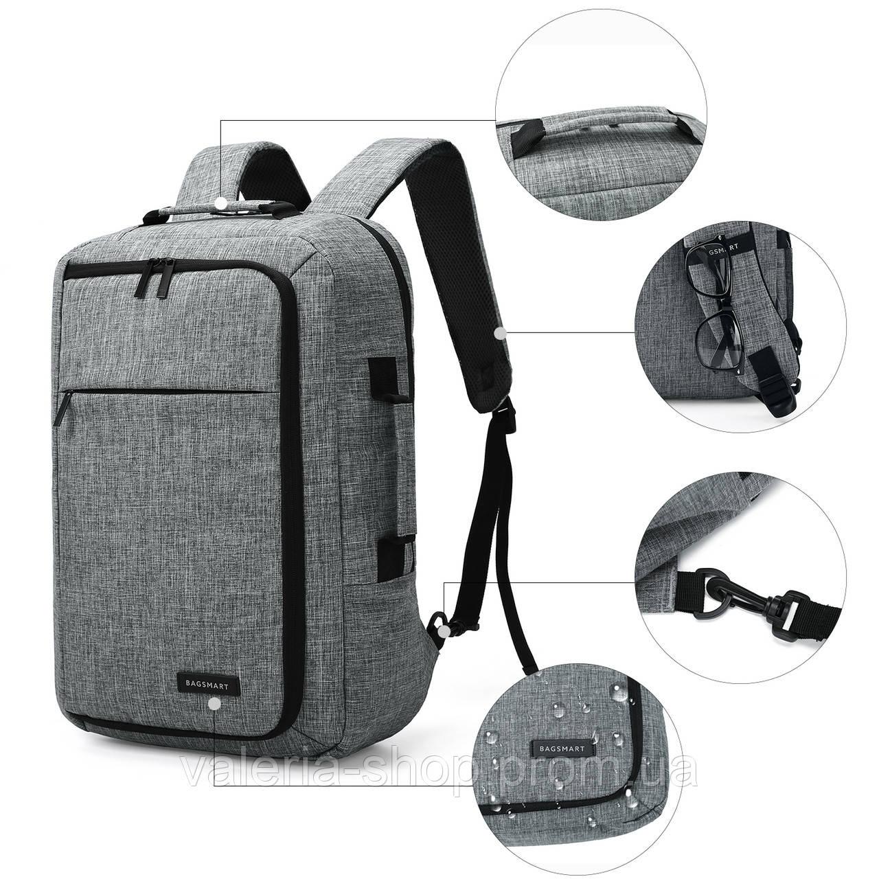 Рюкзак для ноутбука 15.6″ Pomona Bagsmart серый