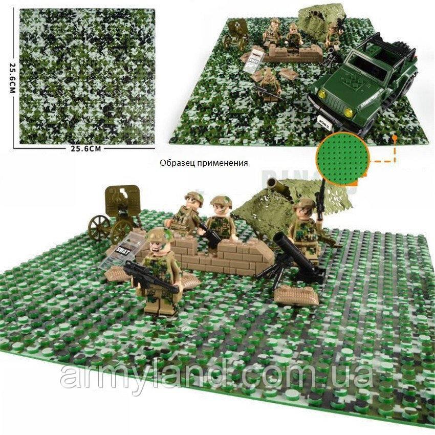 Пластина для Lego,Лесной камуфляж, строительная пластина, базовая пластина