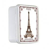 Мыло в жестяной коробочке Роза (Эйфелева башня) Le Blanc100 г