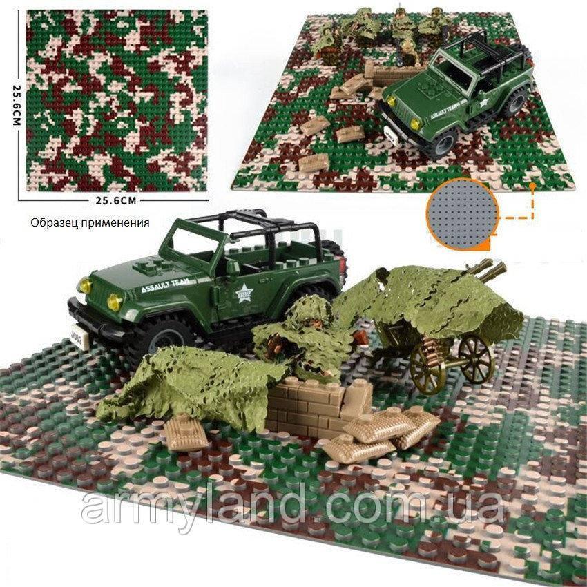 Пластина для Lego,Европейский камуфляж, строительная пластина, базовая пластина