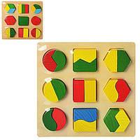 Деревянная игрушка ГеометрикаMD0716