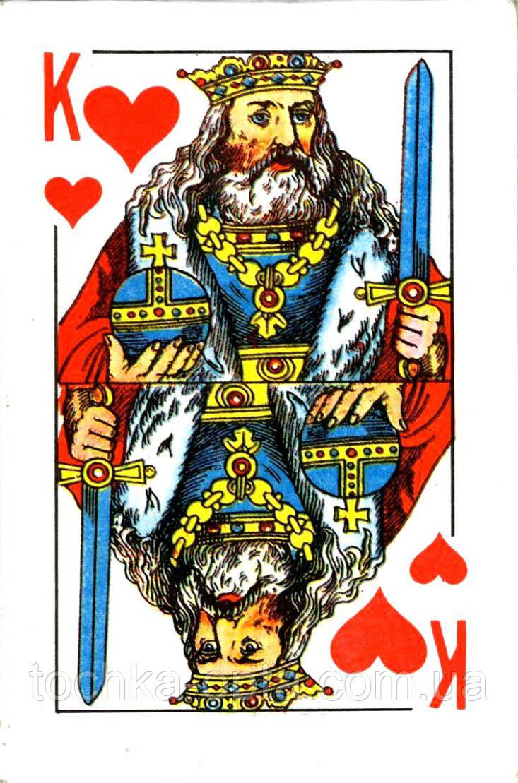 """Карты игральные 54 шт. """"Король""""."""