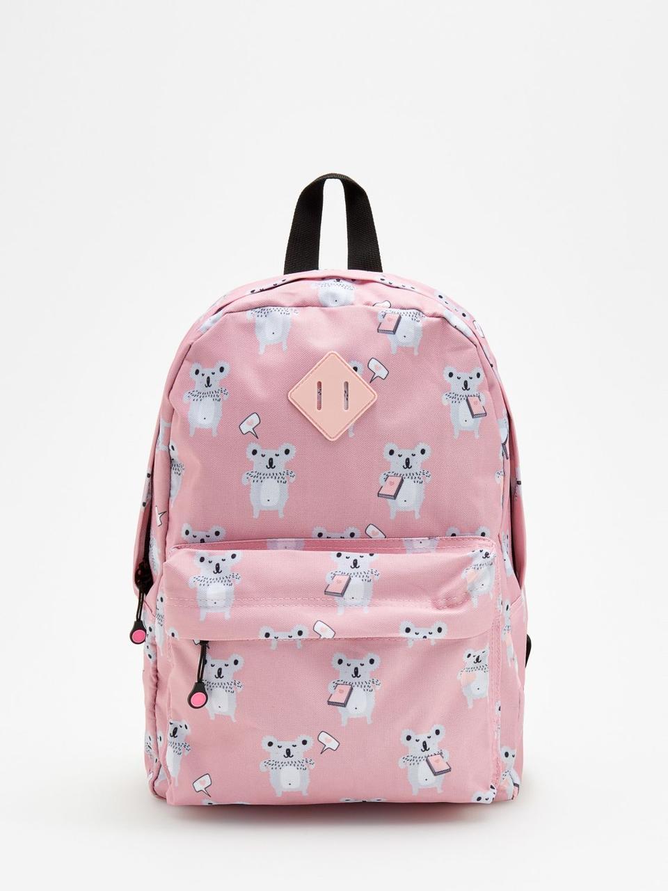 Рюкзак Reserved - Розовый с принтом коал