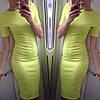 Облегающее удлиненное платье (розовое, желтое), фото 2
