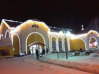 Оформление домов и коттеджей, новогоднее оформление, иллюминация киев