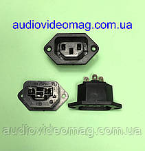 Гнездо сетевое 220V 3 pin, ИБП, монтажное