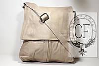 Итальянская кожаная сумка почтальона BIX006 бежевый