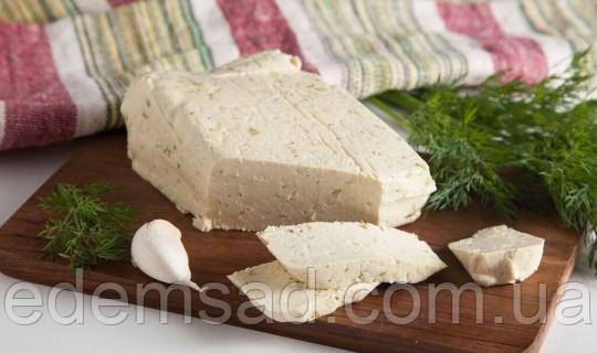 Тофу соевый сыр с чесноком и укропом