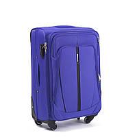 Средний тканевый чемодан Wings 1706 на 4 колесах фиолетовый