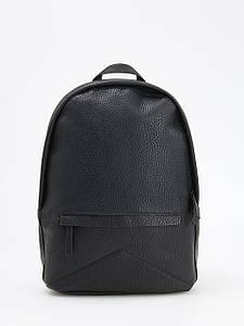 Рюкзак Reserved - Черный из плотной кожи и карманами