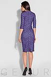 Облегающее платье миди фиолетового цвета с принтом, фото 3