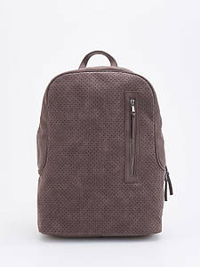 Рюкзак Reserved - Коричневый из перфорированой кожи и карманами