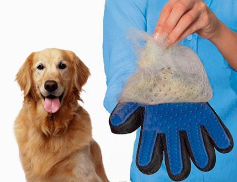 Перчатка для животных TRUE TOUCH для вычесывания шести собак и кошек Оригинал