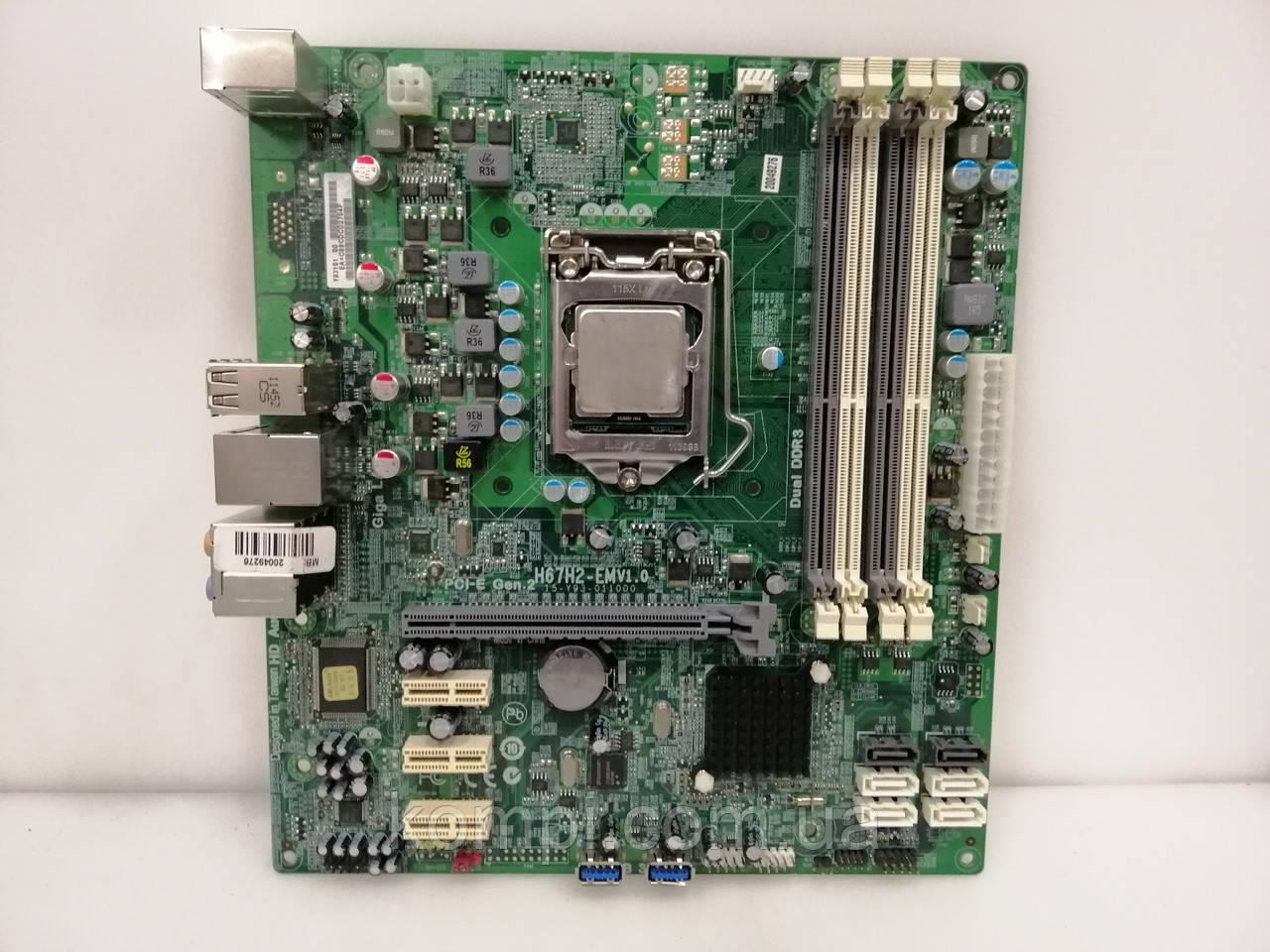 Материнская плата ECS  H67H2-M  Intel H67  S1155 DDR3