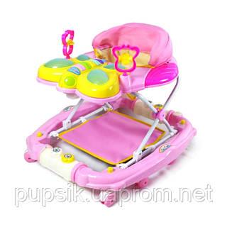 Ходунки детские TILLY 2268 PINK с качалкой