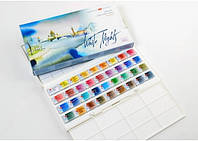 """Краски акварельные, художественные """"Белые ночи"""", набор 36 цветов,  2,5 мл. кюветы, п/п"""