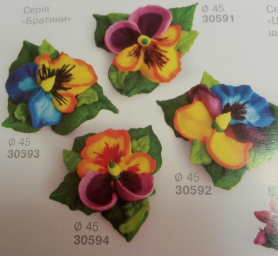 """Сахарная фигура """"Анютины глазки"""" Украина - 03902"""