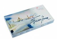 """Краски акварельные, художественные """"Белые ночи"""", набор  24 цвета,  2,5 мл., кюветы, картон. коробка"""
