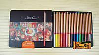 Цветные карандаши MARCO Fine 24 цвета Art-24TN  в металлическом пенале материал Карандаш кедр (уп6\36)