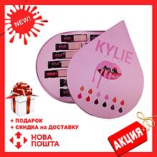 Набор жидких матовых помад Kylie в виде капли 12 штук | помада Кайли