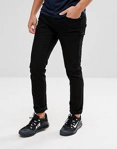 Джинси Pull and Bear - Черные джинсы мужские Slim слим (мужские узкие черные джинсы)