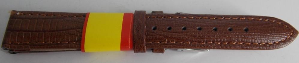Ремешок кожаный Modeno светло-коричневый рельеф 18 мм