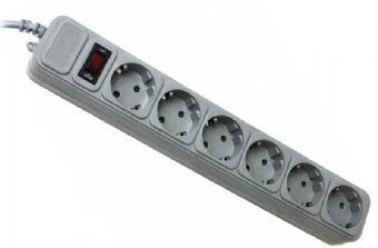 Фильтр сетевой 1.8м Gembird SPG6-G-6G 6 розеток, серый
