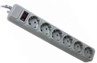 Фильтр сетевой 1.8м Gembird SPG6-G-6G 6 розеток, серый, фото 2