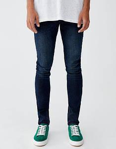 Джинси Pull and Bear - Темно-синие мужские skinny (мужские узкие  джинсы)