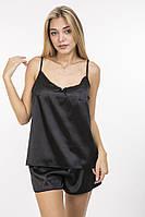 Изысканный черный комплект майка и шорты  42-46 р., фото 1