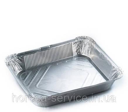 """Прямоугольные алюминиевый  контейнер с крышкой с """"L"""" бортом SP24L 144x119х40мм, 430 мл 25 штук, фото 2"""