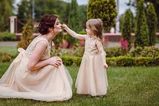 Платья Family look для мамы и дочки