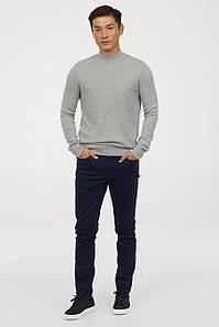 Джинси H&M Man - Classic Skinny Navy (мужские джинсы темно синие)