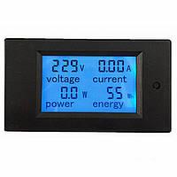 Измеритель параметров тока, ваттметр, вольтметр AC 220В, 20А, фото 1