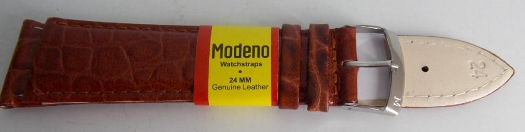 Ремешок кожаный MODENO (ИСПАНИЯ) 24 мм, светло-коричн.